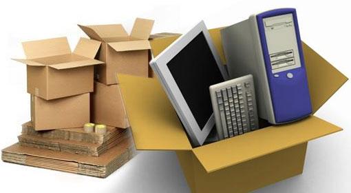Como embalar os itens para uma mudança comercial?